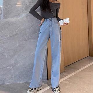 (Order 5-10days) Bigsize S-5XL Quần jeans ống suông rách nhẹ kèm ảnh thật hàng cao cấp