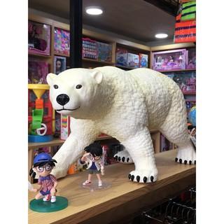 Mô hình gấu trắng to để bày trang trí .