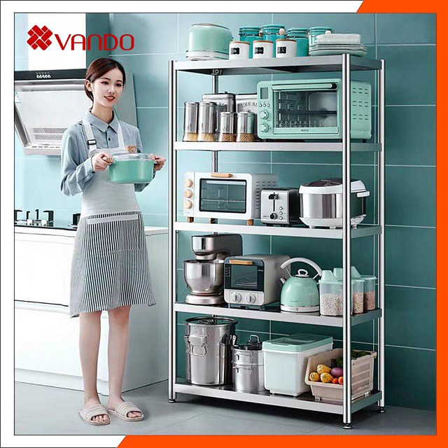 [ 𝐒𝐈𝐙𝐄 𝟖𝟎 - 𝟏𝟎𝟎 ] Giá Kệ Để Đồ Đa Năng INOX 304 VANDO, Kệ Để Lò Vi Sóng, Kệ Lò Nướng, Kệ Để Đồ Nhà Bếp