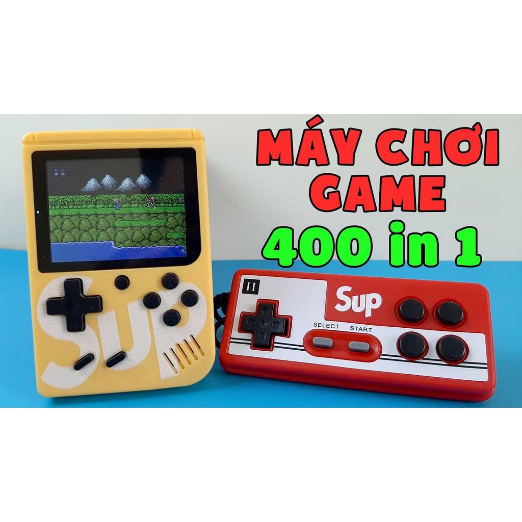 Review [ tặng tay cầm chơi được 2 người ] máy chơi game sub 400 trò chơi  nhiều màu