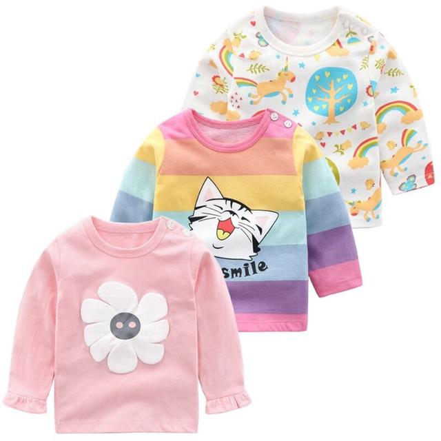 Áo phông dài tay cho bé mẫu mới nhất mùa Thu Đông năm 2019_ Hàng có sẵn
