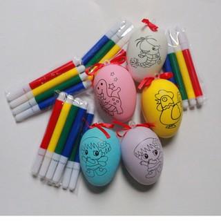 Combo 5 quả trứng tô màu cho bé kèm bút