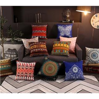 Gối vuông/ gối sofa / gối tựa lưng họa tiết dân tộc- phong cách Retro 45x45cm
