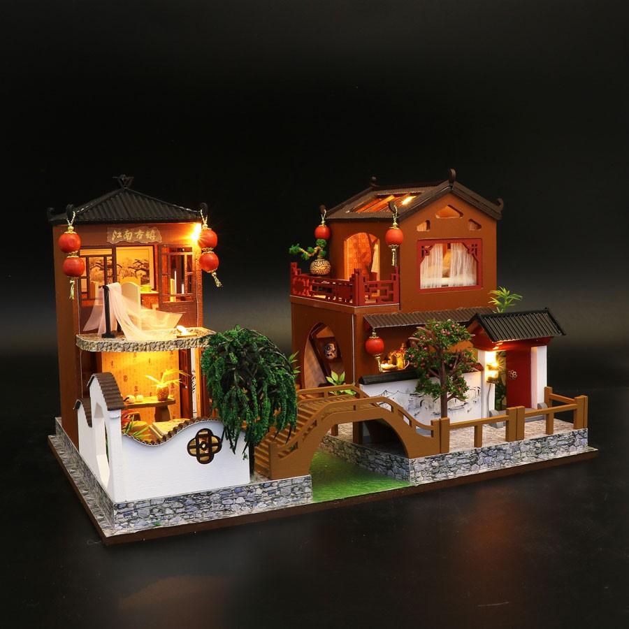Nhà búp bê mô hình nhà lắp ghép Poems and Dreams L902