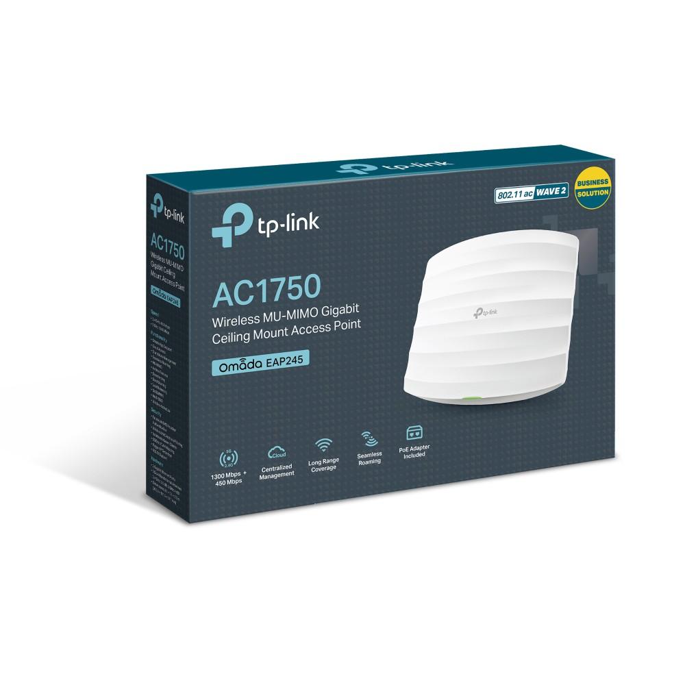 Access Point Gắn Trần Gigabit Wi-Fi MU-MIMO AC1750 TPlink EAP245 - Bảo hành chính hãng 24 tháng