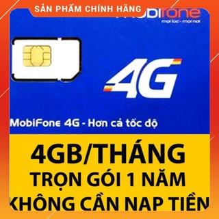 [CHỈ BÁN HÀ NỘI] [CAM KẾT ĐỦ 12 THÁNG] [VT_MaiLinh] Sim Data 3G/4G Mobi MDT250A – 4Gg/ Tháng không mất phí gia hạn