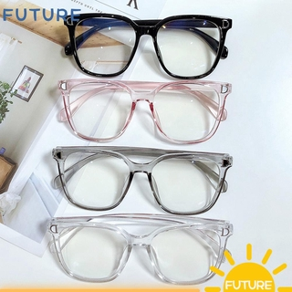 🎈FUTURE🎈 Unisex Computer Goggles Vision Care Eyeglasses Blue Light Blocking Glasses Flexible Ultralight Fashion Radiation Protection Flat Mirror Eyewear/Multicolor