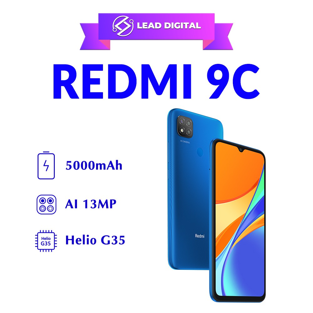 Điện thoại Xiaomi Redmi 9C 3GB/64GB - Hàng Chính Hãng - Nguyên Seal 100% - Bảo Hành Điện tử 18 Tháng