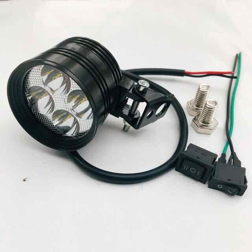 Đèn trợ sáng L4 ngắn 3 chế độ lắp chân gương
