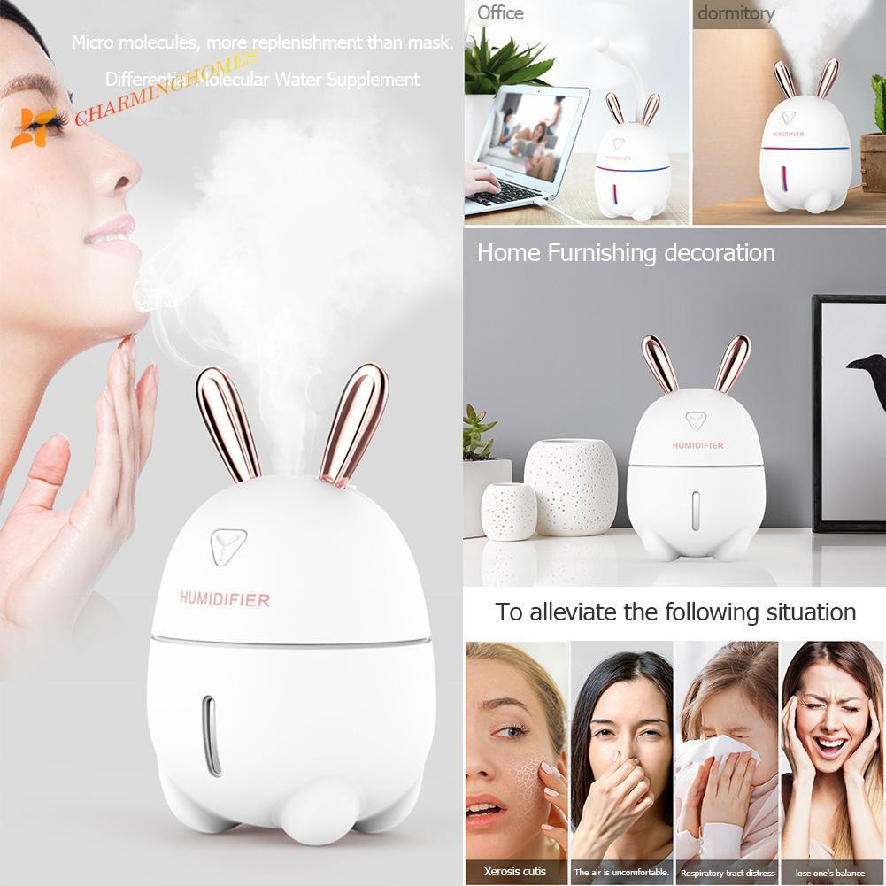 300ml USB 7 Color Night Light Ultrasonic Humidifier Essential Oil Diffuser