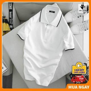 Áo polo nam nữ vải mè thoáng mát cao cấp giá rẻ ❤️ ABATI ❤️ Áo phông nam có cổ vải dày dặn basic xuông . ཾ