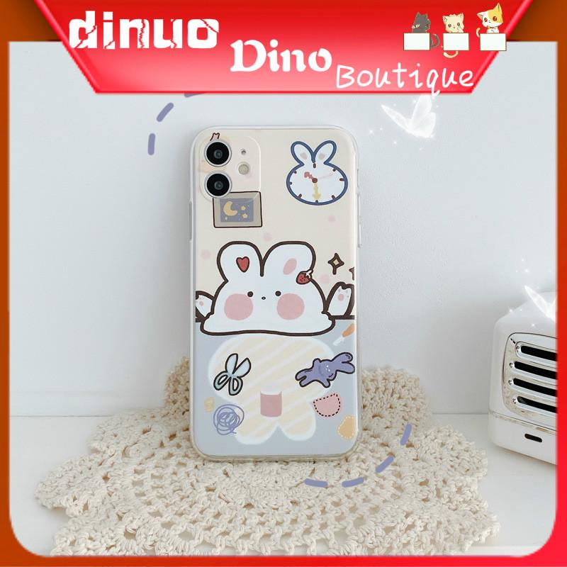 Ốp Điện Thoại Họa Tiết Thỏ Con Hoạt Hình Đáng Yêu Cho iPhone X Xr 11 7 8plus 6