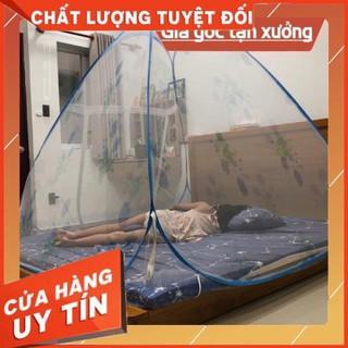 Mùng chụp tự bung Đỉnh Hẹp 1.6m/1.8mx2m hàng Việt Nam chất lượng cao (GIAO MÀU NGẪU NHIÊN)