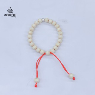 Vòng Dâu Tằm 1 Bi Bạc Thương Hiệu Minh Canh Jewelry