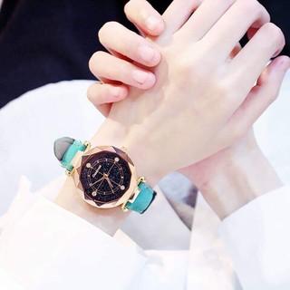 (GIá sỉ) Đồng hồ Candycat thời trang nữ dây da nhung (Loại 4 Cườm) A143