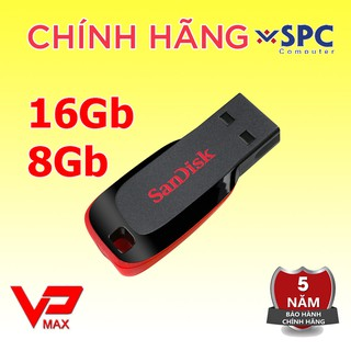 Usb 16Gb 8Gb Sandisk CZ50 Kioxia Toshiba Trek bh 5 năm