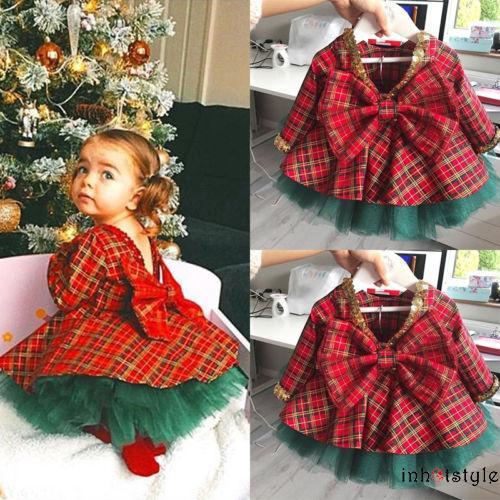 Bộ đầm xòe và váy tutu chủ đề Giáng sinh dành cho bé gái