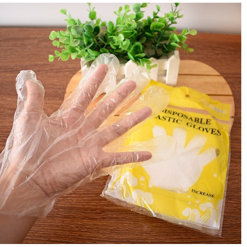 Túi 100 găng tay vệ sinh an toàn, sạch sẽ