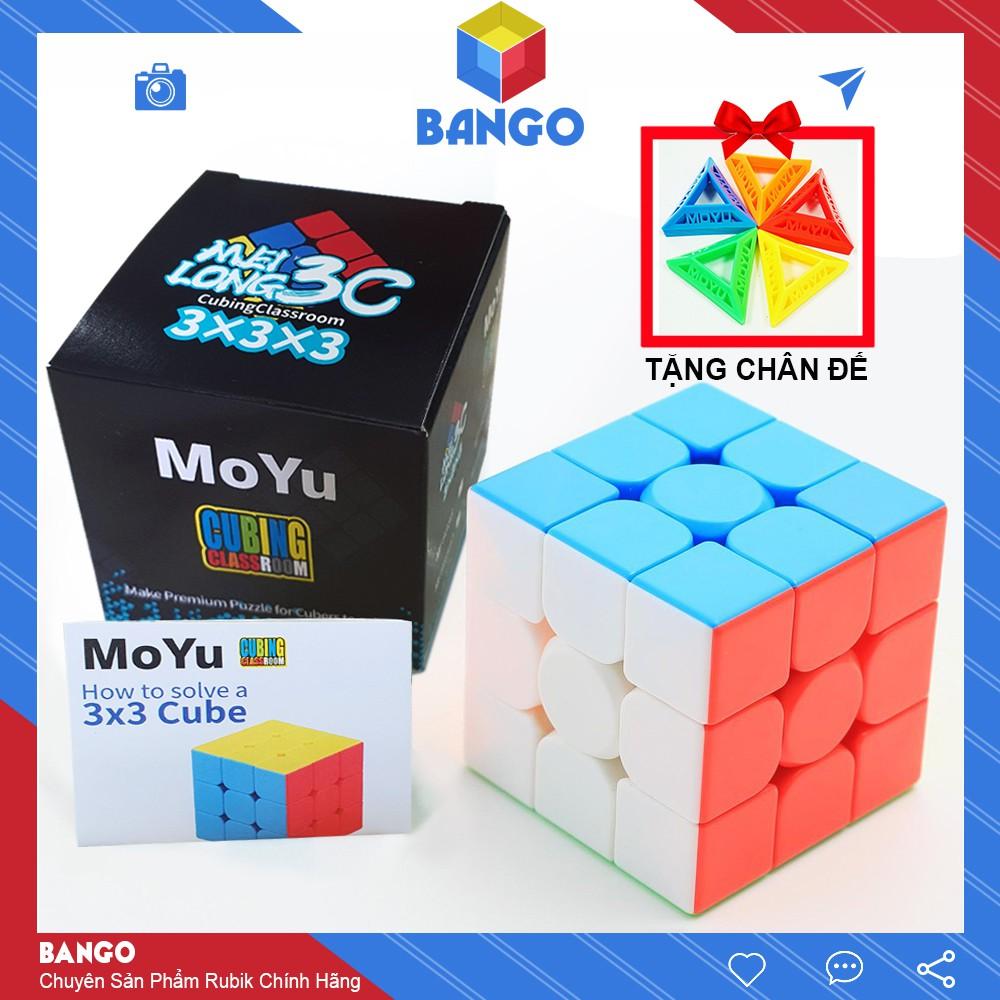 Rubik 3×3 Moyu Meilong Giá Rẻ Magic Cube 3x3x3 Stickerless Đồ Chơi Thông Minh Rubic BANGO RR03