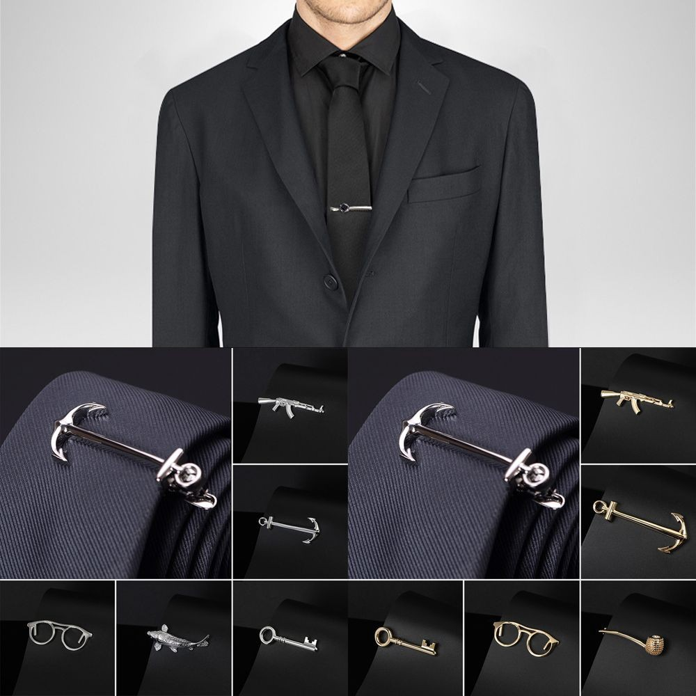 Simple stainless steel tie clip for men