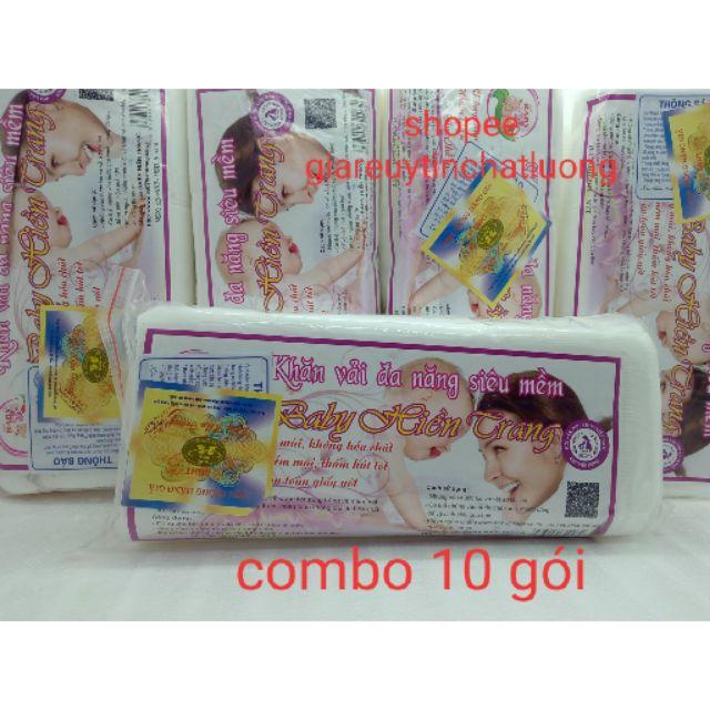 Combo 10 gói khăn giấy khô đa năng baby hiền trang ( quy cách 200gam 1 gói khoảng 150 tờ )