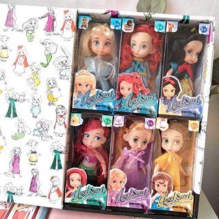 Siêu phẩm 6 công chúa tóc nâu (+ Quà tặng set 10 bánh korea)