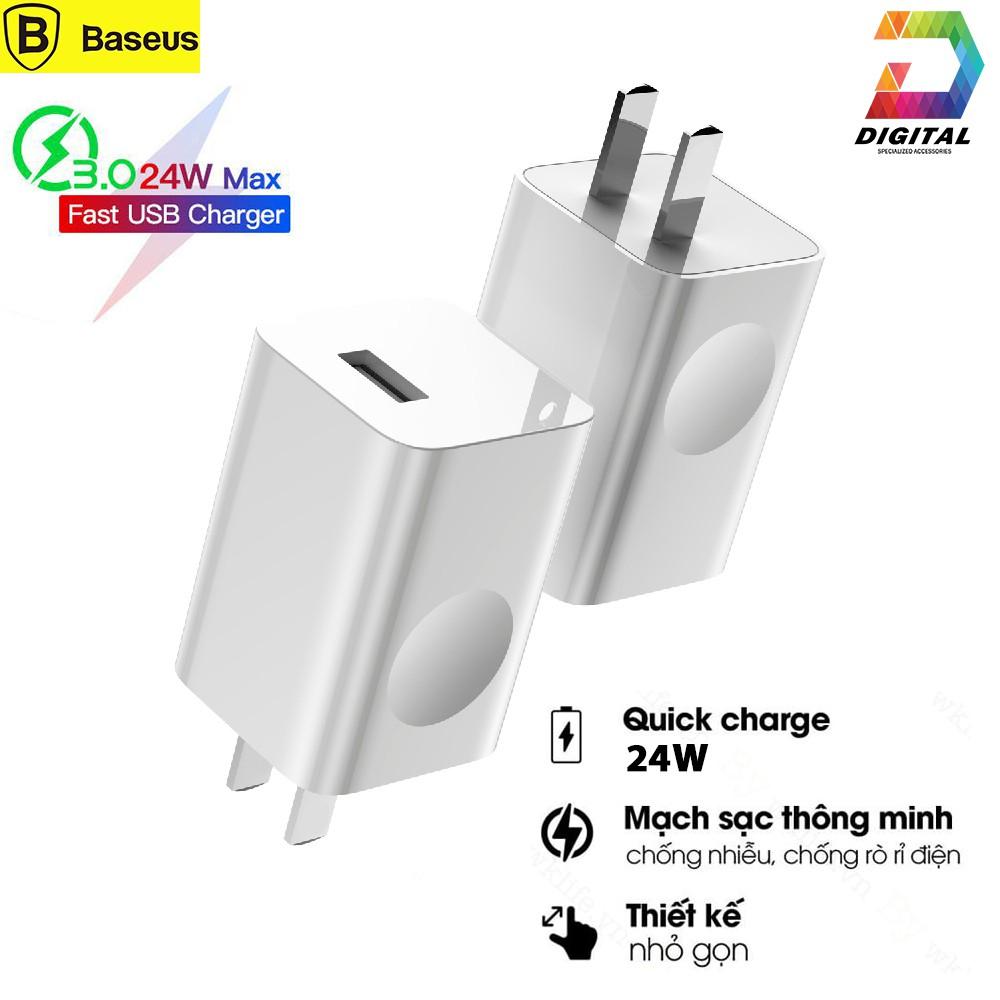 Củ Sạc NhanhBaseus 24WQuick Charge 3.0 Sạc Nhanh Điện Thoại, iPad