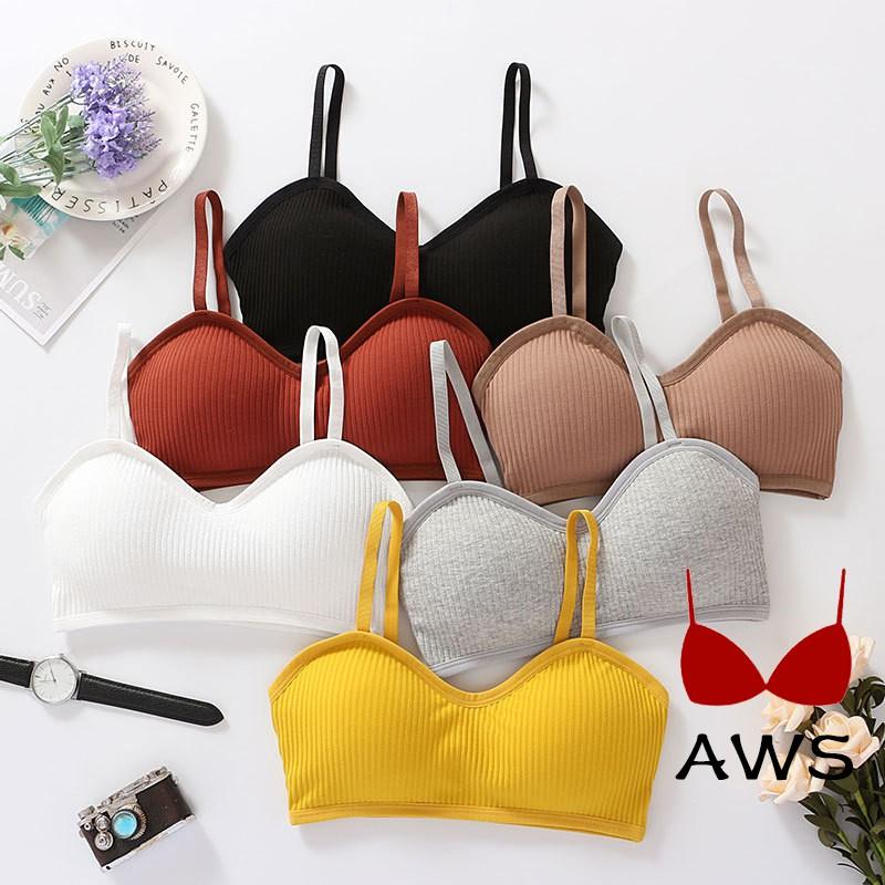 [Mã WACB219 hoàn 12K xu đơn 50K] Áo ngực hai dây thun gân thời trang cho nữ
