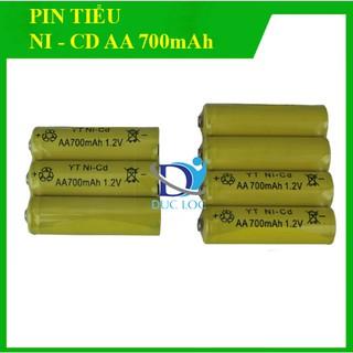 Combo 4 viên pin tiểu sạc lại, pin AA 700mAh 1,2V Ni-CD thumbnail