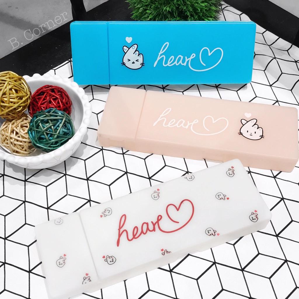 Hộp Bút Nhựa Heart
