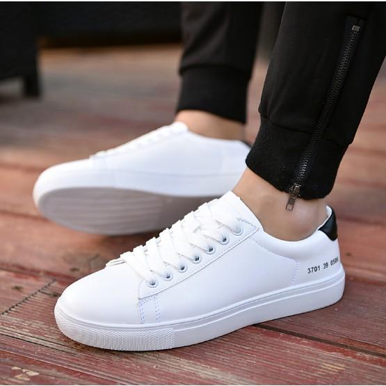 💥FREESHIP💥Giày Đôi-Giày Da Nam Nữ Màu Trắng Thanh Lịch-6009