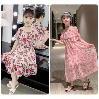 Váy đầm bé gái hoa nhí combo 2 váy mã 101+ 102