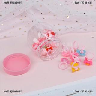 Bộ 20 nhẫn nhựa xinh xắn có hộp cho bé gái thumbnail
