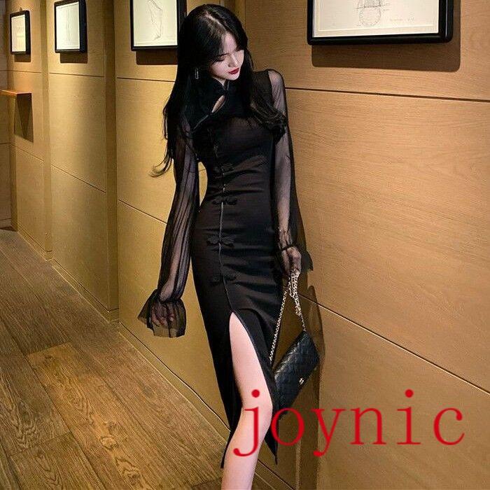 XL Đầm Midi Kiểu Dáng Hàn Quốc Đơn Giản Quyến Rũ Cho Nữ