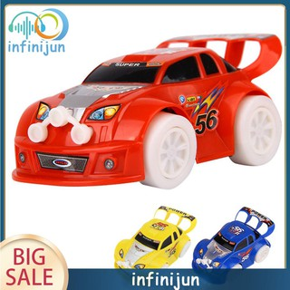 Electronic Model Car Toys Automatic Steering Flashing Music Racing Car Electric Universal Baby Kids