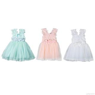 Đầm xoè Tulle phối hoa phong cách công chúa cho bé gái