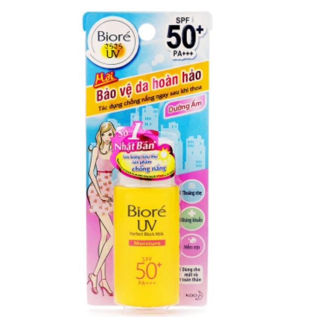 Sữa chống nắng bảo vệ da hoàn hảo Biore SPF50+ PA+++ 25ml