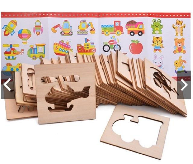 Bộ khung gỗ đồ chơi trí tuệ