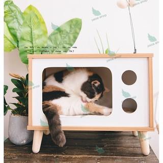 Nhà Cho Mèo Kiểu Chữ Nhật Lắp Ghép Tiện Dụng, Chuồng Quây Chó Mèo Siêu Xinh Kiểu Dáng Hiện Đại Kết Hợp Decor thumbnail