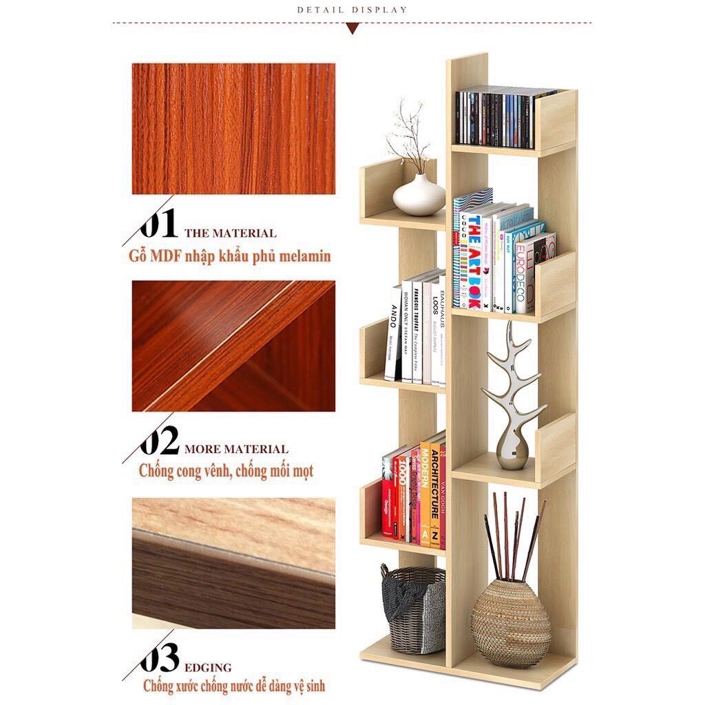 Kệ sách gỗ hình cây, kệ trang trí đa năng hàng loại 1 nhận sỉ toàn quốc