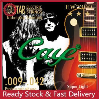 Caye EW Series 6 Pcs Electric Guitar Strings Hexagonal Carbon Steel Nickel Plating Guitar String