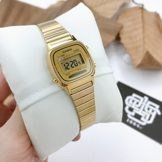 Đồng hồ nữ Casio LA670 LA670WGA-9 dây đeo bằng thép, chống nước, hàng chính hãng thumbnail