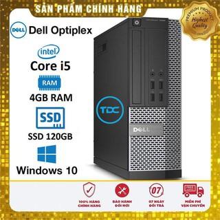 Máy tính đồng bộ Dell Optiplex SFF Core i5 4460 Ram 4Gb Ổ cứng SSD 120Gb. Quà tặng. Hàng Nhập Khẩu.Bảo hành 2 năm