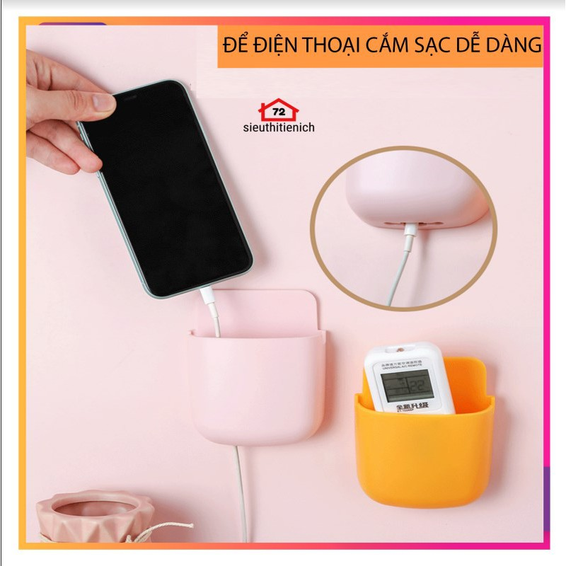 Khay gắn tường, dán tường đựng remote, điều khiển điều hoà, máy lạnh, ti vi, điện thoại tiện dụng (giao màu ngẫu nhiên)