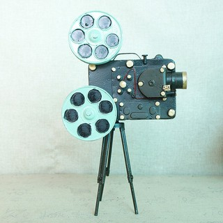 Model TV movie props vintage with bracket movie projector model wrought iron SMT