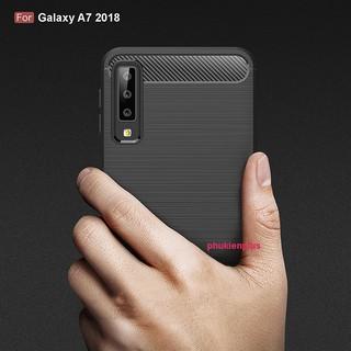 Ốp lưng Samsung Galaxy A7 2018 Fiber Carbon Case siêu chống sốc