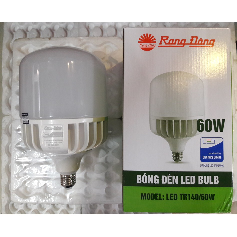 Bóng đèn LED BULB Trụ 60W Rạng Đông