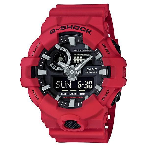 นาฬิกา คาสิโอ Casio G-Shock Standard ANALOG-DIGITAL รุ่น GA-700-4A ของแท้ รับประกัน 1 ปี นาฬิกาโครโนกราฟ