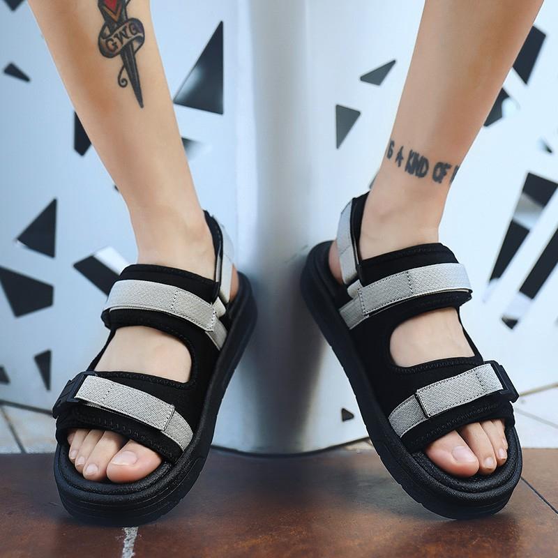 Giày quai hậu hở ngón phong cách Harajuku Hàn Quốc cho nam