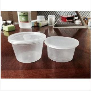 Hủ nhựa làm bánh flan caramen, rau câu, sữa chua, đựng slime (hộp flan có nắp)